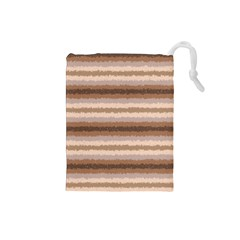 Horizontal Native American Curly Stripes - 3 Drawstring Pouch (Small)