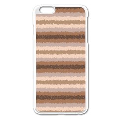 Horizontal Native American Curly Stripes   3 Apple Iphone 6 Plus Enamel White Case