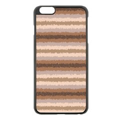 Horizontal Native American Curly Stripes   3 Apple Iphone 6 Plus Black Enamel Case