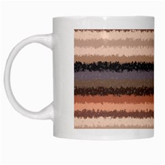 Horizontal Native American Curly Stripes   4 White Coffee Mug