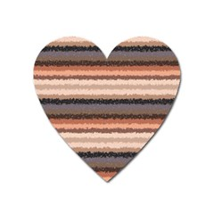 Horizontal Native American Curly Stripes   4 Magnet (heart)