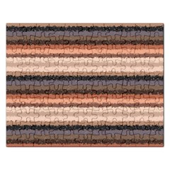 Horizontal Native American Curly Stripes - 4 Jigsaw Puzzle (Rectangle)