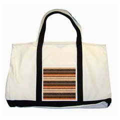 Horizontal Native American Curly Stripes   4 Two Toned Tote Bag
