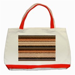 Horizontal Native American Curly Stripes   4 Classic Tote Bag (red)