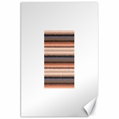 Horizontal Native American Curly Stripes - 4 Canvas 24  x 36  (Unframed)