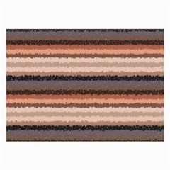 Horizontal Native American Curly Stripes   4 Glasses Cloth (large, Two Sided)