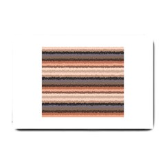 Horizontal Native American Curly Stripes   4 Small Door Mat
