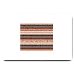 Horizontal Native American Curly Stripes - 4 Large Door Mat