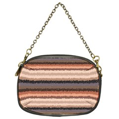 Horizontal Native American Curly Stripes   4 Chain Purse (one Side)