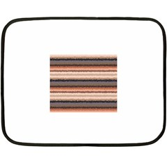 Horizontal Native American Curly Stripes - 4 Mini Fleece Blanket (Two Sided)