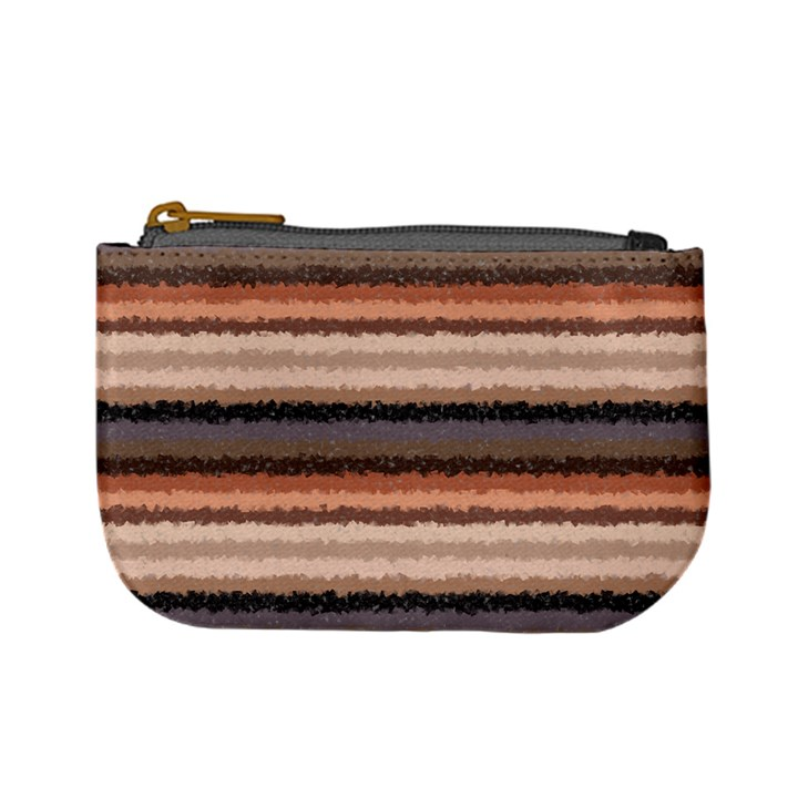 Horizontal Native American Curly Stripes - 4 Coin Change Purse