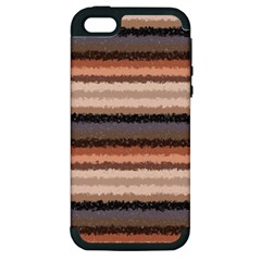 Horizontal Native American Curly Stripes   4 Apple Iphone 5 Hardshell Case (pc+silicone)