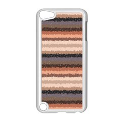 Horizontal Native American Curly Stripes   4 Apple Ipod Touch 5 Case (white)