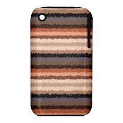 Horizontal Native American Curly Stripes - 4 Apple iPhone 3G/3GS Hardshell Case (PC+Silicone)