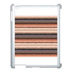 Horizontal Native American Curly Stripes   4 Apple Ipad 3/4 Case (white)