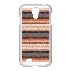 Horizontal Native American Curly Stripes - 4 Samsung GALAXY S4 I9500/ I9505 Case (White)