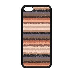 Horizontal Native American Curly Stripes - 4 Apple iPhone 5C Seamless Case (Black)