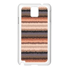 Horizontal Native American Curly Stripes - 4 Samsung Galaxy Note 3 N9005 Case (White)