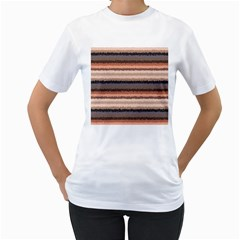 Horizontal Native American Curly Stripes - 4 Women s T-Shirt (White)
