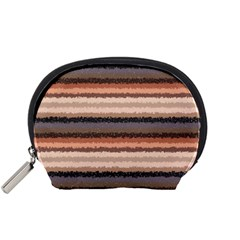 Horizontal Native American Curly Stripes - 4 Accessory Pouch (Small)