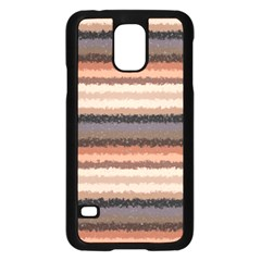 Horizontal Native American Curly Stripes - 4 Samsung Galaxy S5 Case (Black)