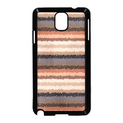 Horizontal Native American Curly Stripes - 4 Samsung Galaxy Note 3 Neo Hardshell Case (Black)
