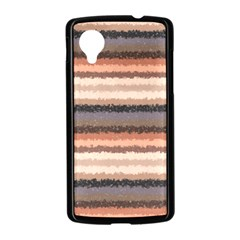Horizontal Native American Curly Stripes - 4 Google Nexus 5 Case (Black)