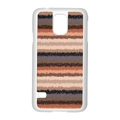 Horizontal Native American Curly Stripes   4 Samsung Galaxy S5 Case (white)
