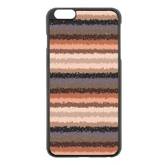 Horizontal Native American Curly Stripes - 4 Apple iPhone 6 Plus Black Enamel Case