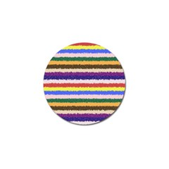 Horizontal Vivid Colors Curly Stripes   1 Golf Ball Marker 10 Pack