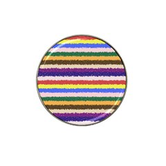 Horizontal Vivid Colors Curly Stripes   1 Golf Ball Marker (for Hat Clip)