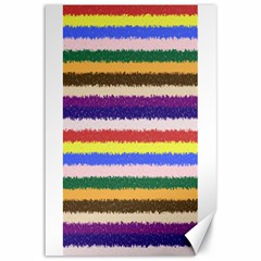Horizontal Vivid Colors Curly Stripes - 1 Canvas 12  x 18  (Unframed)