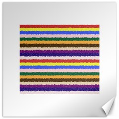 Horizontal Vivid Colors Curly Stripes   1 Canvas 20  X 20  (unframed)