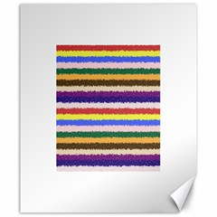 Horizontal Vivid Colors Curly Stripes - 1 Canvas 20  x 24  (Unframed)