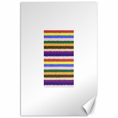 Horizontal Vivid Colors Curly Stripes - 1 Canvas 24  x 36  (Unframed)