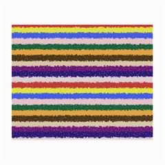 Horizontal Vivid Colors Curly Stripes   1 Glasses Cloth (small, Two Sided)
