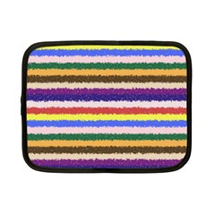 Horizontal Vivid Colors Curly Stripes   1 Netbook Sleeve (small)