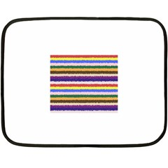 Horizontal Vivid Colors Curly Stripes - 1 Mini Fleece Blanket (Two Sided)