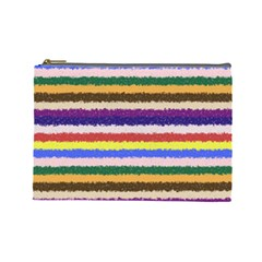 Horizontal Vivid Colors Curly Stripes   1 Cosmetic Bag (large)
