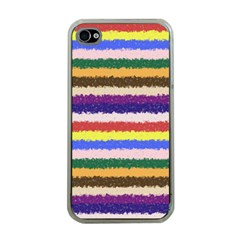 Horizontal Vivid Colors Curly Stripes   1 Apple Iphone 4 Case (clear)