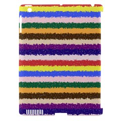Horizontal Vivid Colors Curly Stripes   1 Apple Ipad 3/4 Hardshell Case (compatible With Smart Cover)