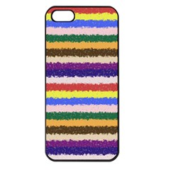 Horizontal Vivid Colors Curly Stripes   1 Apple Iphone 5 Seamless Case (black)