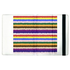 Horizontal Vivid Colors Curly Stripes   1 Apple Ipad 3/4 Flip Case