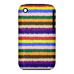 Horizontal Vivid Colors Curly Stripes - 1 Apple iPhone 3G/3GS Hardshell Case (PC+Silicone)