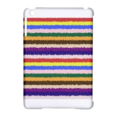 Horizontal Vivid Colors Curly Stripes   1 Apple Ipad Mini Hardshell Case (compatible With Smart Cover)