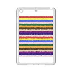 Horizontal Vivid Colors Curly Stripes - 1 Apple iPad Mini 2 Case (White)