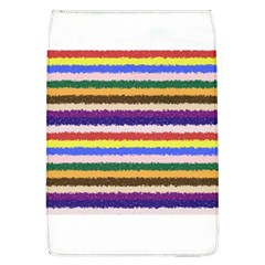 Horizontal Vivid Colors Curly Stripes   1 Removable Flap Cover (large)