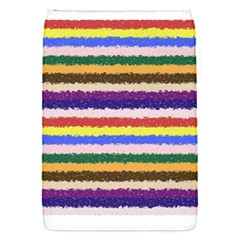 Horizontal Vivid Colors Curly Stripes   1 Removable Flap Cover (small)