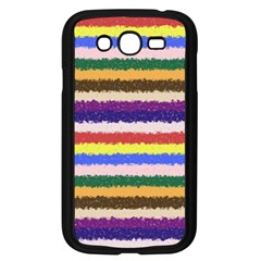 Horizontal Vivid Colors Curly Stripes - 1 Samsung Galaxy Grand DUOS I9082 Case (Black)