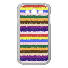 Horizontal Vivid Colors Curly Stripes - 1 Samsung Galaxy Grand DUOS I9082 Case (White)